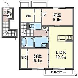 仮称 太田市米沢町シャーメゾン[202号室]の間取り