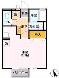 埼玉新都市交通 今羽駅 徒歩5分の賃貸アパート 1階ワンルームの間取り