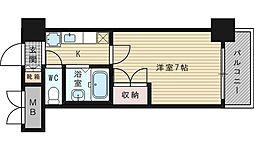 ローズコーポ新大阪9[6階]の間取り