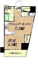 エクセレントシティ荻窪ステーションスイート 7階1DKの間取り