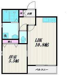 東京都大田区大森西1丁目の賃貸マンションの間取り
