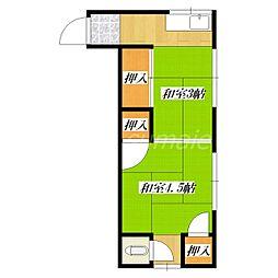 亀田荘[2階]の間取り