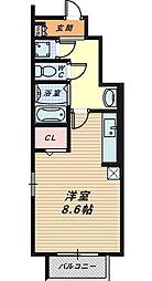 アファームドII[1階]の間取り