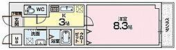 フロール宮之阪[4階]の間取り
