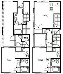 西武池袋線 椎名町駅 徒歩7分の賃貸マンション 1階ワンルームの間取り