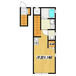 東京都葛飾区新小岩2丁目の賃貸アパートの間取り
