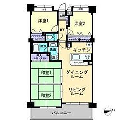 コアマンション和白丘ネクステージA棟[1008号室]の間取り