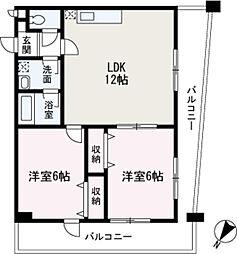 埼玉県和光市丸山台3丁目の賃貸マンションの間取り