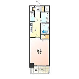 JR阪和線 津久野駅 徒歩7分の賃貸マンション 7階1Kの間取り