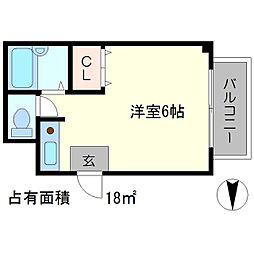 リップル[3階]の間取り