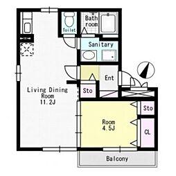 パークハイム[3階]の間取り