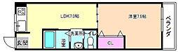 シャンテー香里ヶ丘3[1階]の間取り