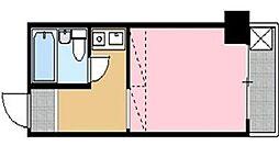ポートハイム第一吉野町[2階]の間取り