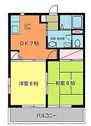 ディアス ミヨシ[1階]の間取り