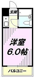 東京都八王子市子安町4丁目の賃貸マンションの間取り