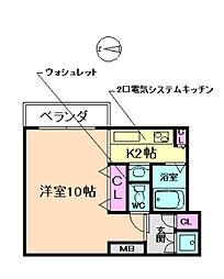 ハーツアベニュー[2階]の間取り