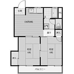 コーポ篠崎[2階]の間取り