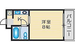 ニューヒル高塚 1階1Kの間取り