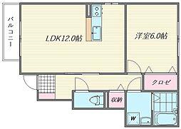 ラ・ルート松島B棟[101号室]の間取り