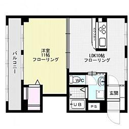 福岡県福岡市中央区舞鶴2丁目の賃貸マンションの間取り