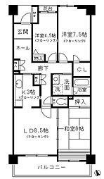 コーポレート小金井梶野通り2号棟[5階]の間取り