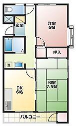 デュオ51[1階]の間取り