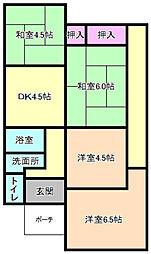 [一戸建] 大阪府枚方市小倉町 の賃貸【/】の間取り