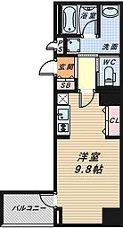 セントラル堺東[8階]の間取り