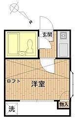 エスポアール代田橋[101号室]の間取り
