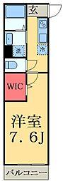 JR総武線 津田沼駅 徒歩6分の賃貸アパート 1階1Kの間取り