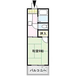 プロスパーヤマシタⅡ[205号室]の間取り