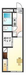愛知県豊川市金塚町1丁目の賃貸アパートの間取り