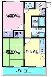リンデンツリーIII[1階]の間取り