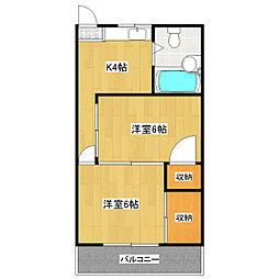 第2中正ビル[303号室]の間取り