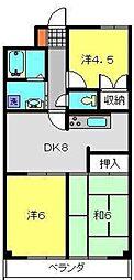 新堀マンション赤坂[205号室]の間取り