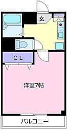 大阪府松原市三宅西3丁目の賃貸マンションの間取り