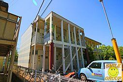 千葉県松戸市中矢切の賃貸アパートの外観