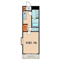 栃木県小山市城東5丁目の賃貸マンションの間取り