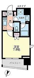 東京メトロ丸ノ内線 後楽園駅 徒歩9分の賃貸マンション 5階1Kの間取り