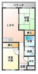愛知県豊橋市中橋良町の賃貸マンションの間取り
