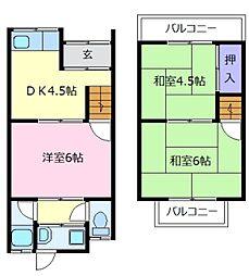 [一戸建] 大阪府松原市別所3丁目 の賃貸【/】の間取り