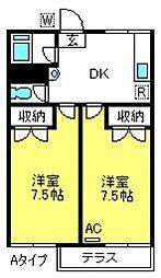 埼玉県さいたま市見沼区大字御蔵の賃貸アパートの間取り