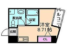 大阪府大阪市北区大淀南2丁目の賃貸マンションの間取り