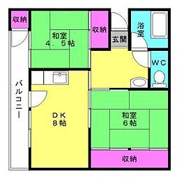 フィルホーム新野辺 G棟[57号室]の間取り