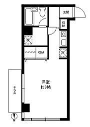 CASA駒沢[F号室]の間取り