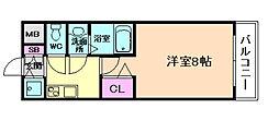 大阪WESTレジデンス[7階]の間取り