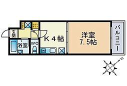 ル・アディッソ福岡[705号室]の間取り