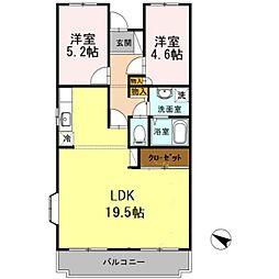 オースター5番館[2階]の間取り