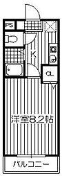 ラフォーレ白水ケ丘[202号室]の間取り