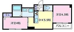 ドマーニ[3階]の間取り